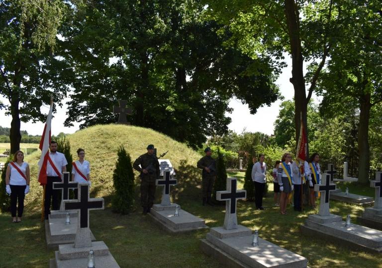 Uroczystość na ukraińskim cmentarzu
